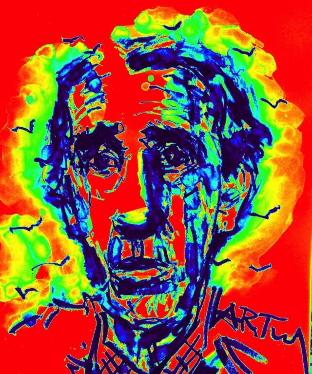 Vor 40 Jahren erhielt Heinrich Böll (1917-1985) den Nobelpreis für Literatur.Zeichnung: ARTus