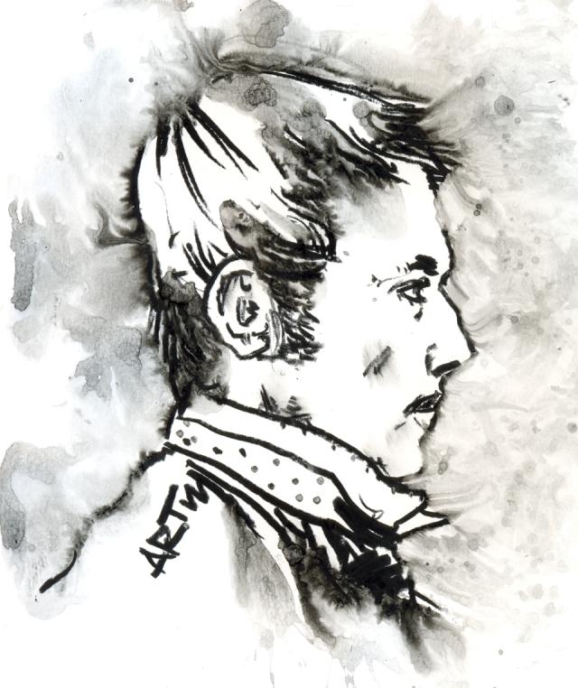 Zum 140. Geburtstag des Künstlers Heinrich Vogeler, der am 12. 12. 1872 in Bremen geboren wurde und am 14. Juni 1942 in Kasachstan starb.Zeichnung: ARTus