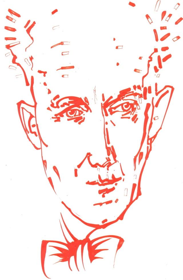 Am 22. März 1908 wurde der Dichter und Pfarrer Albrecht Goes geboren.  Zeichnung: ARTus