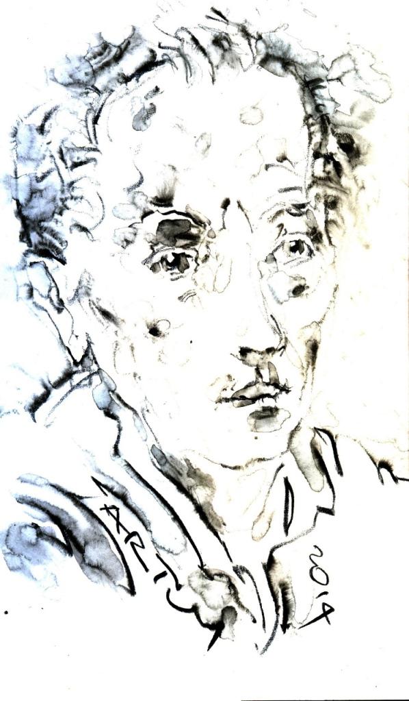 Vor zwanzig Jahren, am17.3.1994, starb der Verleger und Dramaturg Walter Janka (*29.4.1914). Zeichnung: ARTus