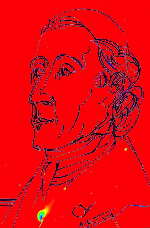 Am 15. November 1741 wurde Johann Caspar Lavater geboren. Zeichnung: ARTus